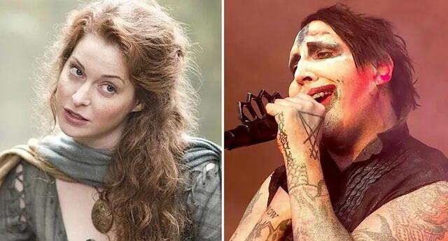 Actriz de Game of Thrones demanda a Marylin Manson por violación.