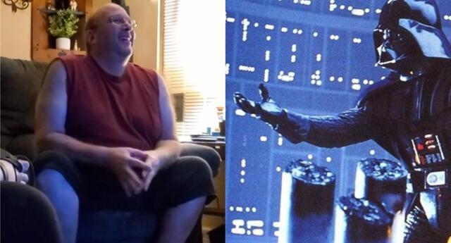 Un video en el popular foro Reddit reveló el impresionante momento en que un fan de Star Wars con amnesia vuelve a ver la icónica escena del Episodio V donde se revela la identidad de Darth Vader./Fuente: Composición.