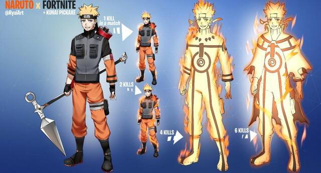 Naruto: Filtración indica que tendremos skin del ninja rubio en Fortnite