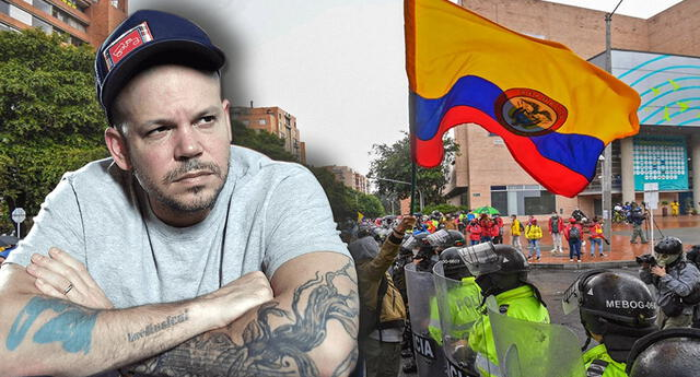 Residente comparte imágenes de las protestas en Colombia.