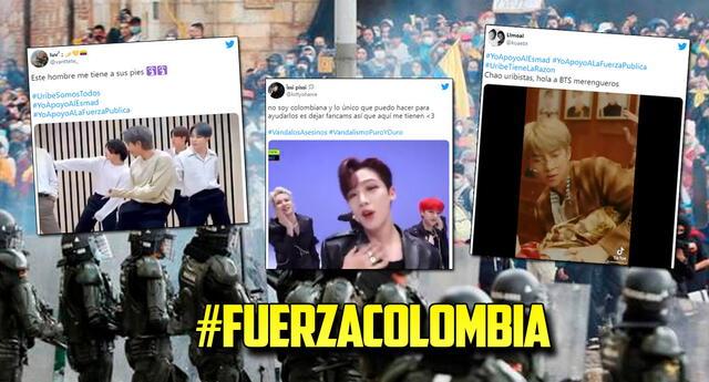 Fans del k-pop sabotean tendencias en contra de las movilizaciones en Colombia.