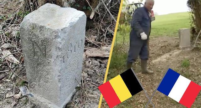 Granjero mueve una piedra sin saber que era la frontera de Francia y Bélgica, casi desatando un conflicto