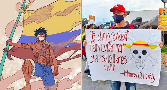 Otakus en Colombia también protestan en las calles por la reforma tributaria.