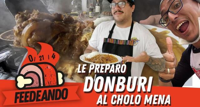 Oscar Soto invitó al Cholo Mena a la primera edición de Feedeando y prepararon un riquísimo Donburi./Fuente: YouTube.
