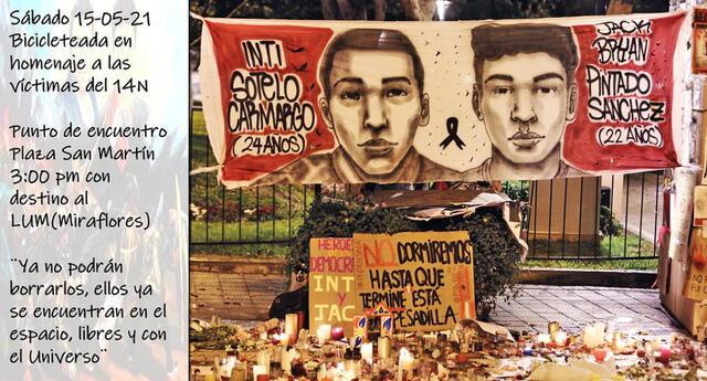 Conmemoración de los 6 meses de la muerte de Inti y Bryan.