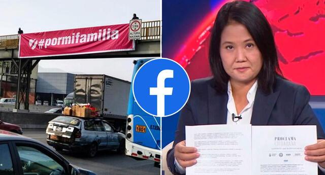 Facebook eliminó publicidad a favor de Keiko por no identificar a financistas.