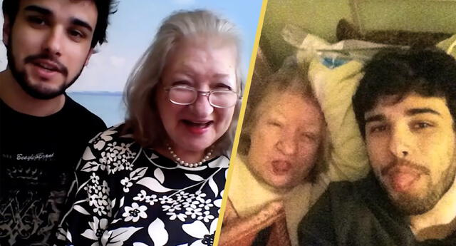 Nieto deja todo para cuidar a su abuela con Alzheimer hasta el último día de su vida