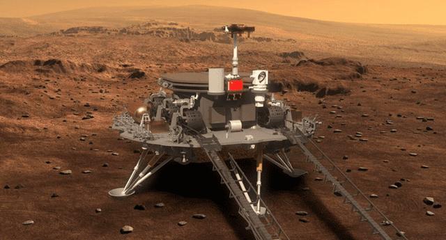 La sonda Tianwen-1 transportó al rover Zhurong y su módulo de aterrizaje al planeta rojo en una operación sumamente exitosa./Fuente: CNSA.