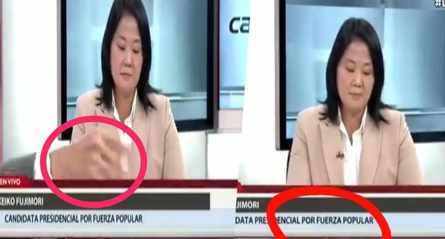 Entrevistador pide retirar insistentemente lápiz durante entrevista a Keiko Fujimori