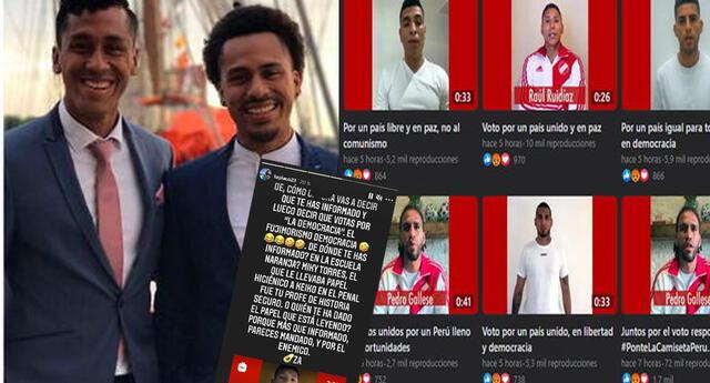 Hermano de Renato Tapia criticó publicaciones políticas de futbolistas de la selección