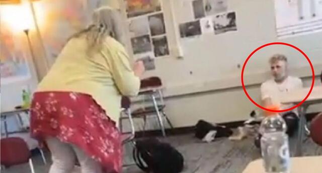 Una docente insulta a su estudiante por no llevar cubrebocas.