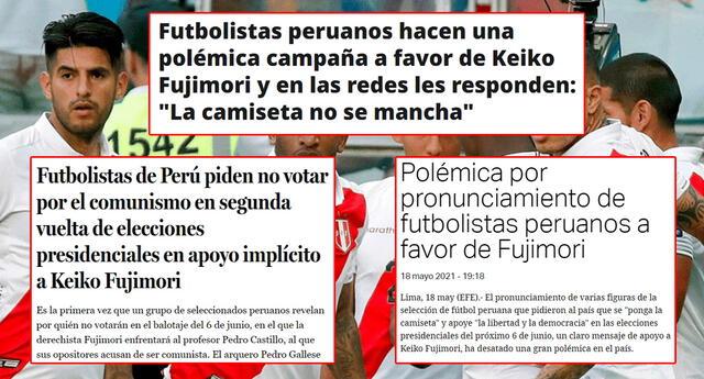 Medios extranjeros indican que la campaña de la Selección Peruana apoya Keiko Fujimori.