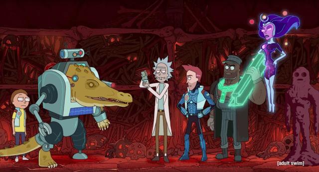The Vindicators es la nueva serie spin-off de RIck & Morty sobre los superhéroes que se presentaron en su tercera temporada./Fuente: Adult Swim.