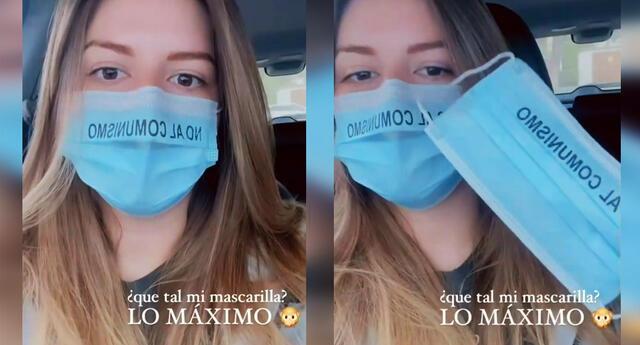 Regalan mascarillas con la frase 'no al comunismo' en Lima