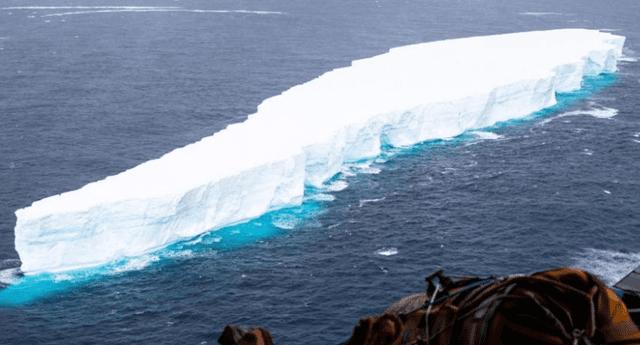 El iceberg A-76 es ahora la pieza de hielo más grande registrada en todo el mundo./Fuente: The Guardian.