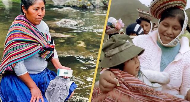 """Comunidades andinas utilizan """"jabón mágico"""" para purificar el agua de los ríos"""