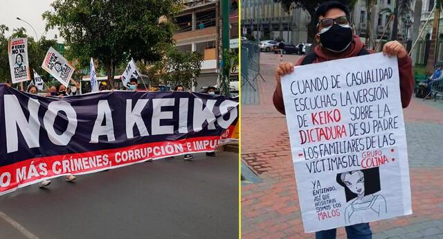 Otakus se unieron a la protestas en contra de Keiko Fujimori.