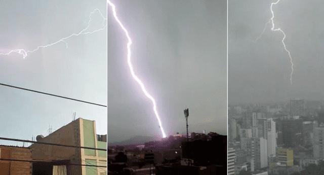 La tormenta eléctrica que se presentó hoy en Lima ha provocado confusión entre los ciudadanos que emplean términos equivocados para referirse a este fenómeno climatológico./Fuente: La República.