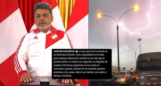 Andrés Hurtado sorprendió a sus seguidores tras referirse a los relámpagos en Lima.