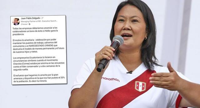 Según el gerente, si gana Fujimori nos salvaríamos de un