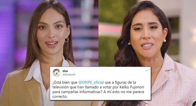 ONPE recibe críticas por contratar a figuras televisivas que apoyan la candidatura de Keiko Fujimori.