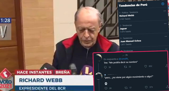 Pedro Castillo se reunió con economista Richard Webb, pero periodista no sabía quién era y genera memes