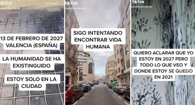 Según el tiktoker 'único sobreviviente' la humanidad ya no existe en 2027.