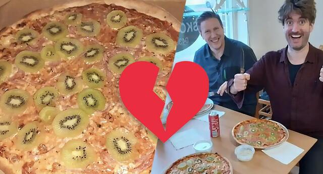 Hombre crea la pizza con kiwi y su esposa le dice adiós y se divorcia