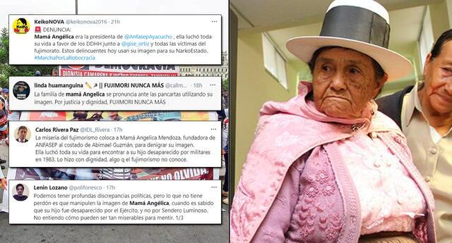 Usuarios rechazaron que fujimoristas hayan usado la imagen de Mamá Angélica.
