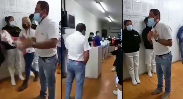 Sujeto incentiva a sus trabajadores a votar por la candidata de Fuerza Popular.