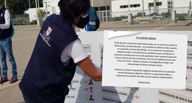 Empresa acusada de ofrecer días libres a cambio de ser personeros de Fuerza Popular se pronuncia