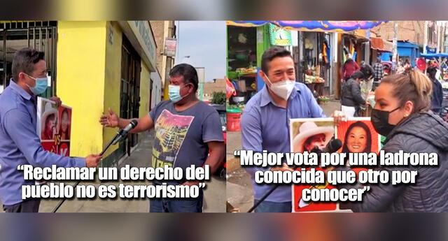 Se viralizan videos de periodista que le pregunta a la gente en la calle por quién votará.