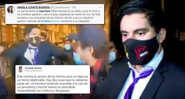 Periodista de Latina involucrado en gresca con simpatizantes de Perú Libre.