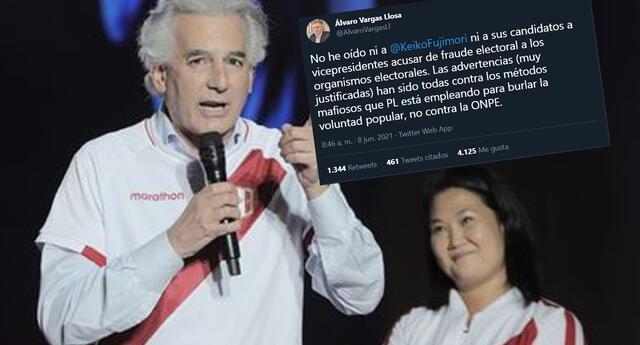 Críticas contra Álvaro Vargas Llosa por decir que no vio a Keiko reclamar