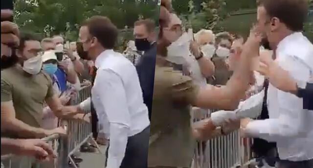 Presidente francés recibe cachetada de ciudadano y el video se vuelve viral (VIDEO)