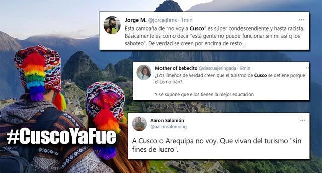 Promueven campaña para no ir a Cusco si es que gana Pedro Castillo.