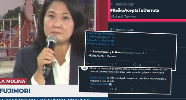 Malestar y críticas contra Keiko Fujimori, tras anuncio de pedido de nulidad de 802 mesas
