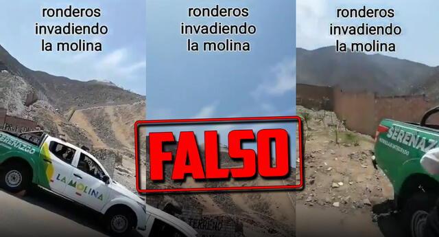 Fake News: es falso que ronderos intenten invadir La Molina.