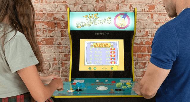El videojuego de Arcade de Los Simpson volverá a ser lanzado con todo y su máquina recreativa por su 30 aniversario./Fuente: Arcade1Up.